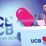 UCB re-launches their logo