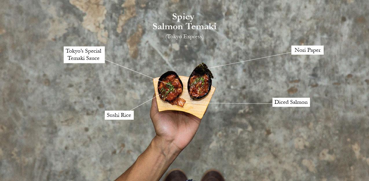 Spicy Salmon Temaki (Tokyo Express)