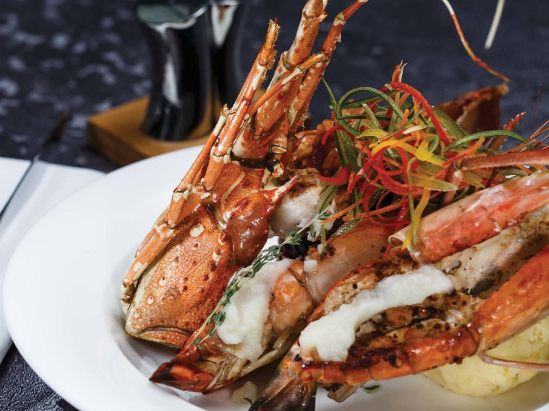 Mixed Seafood Platter with Cauliflower Puree-01